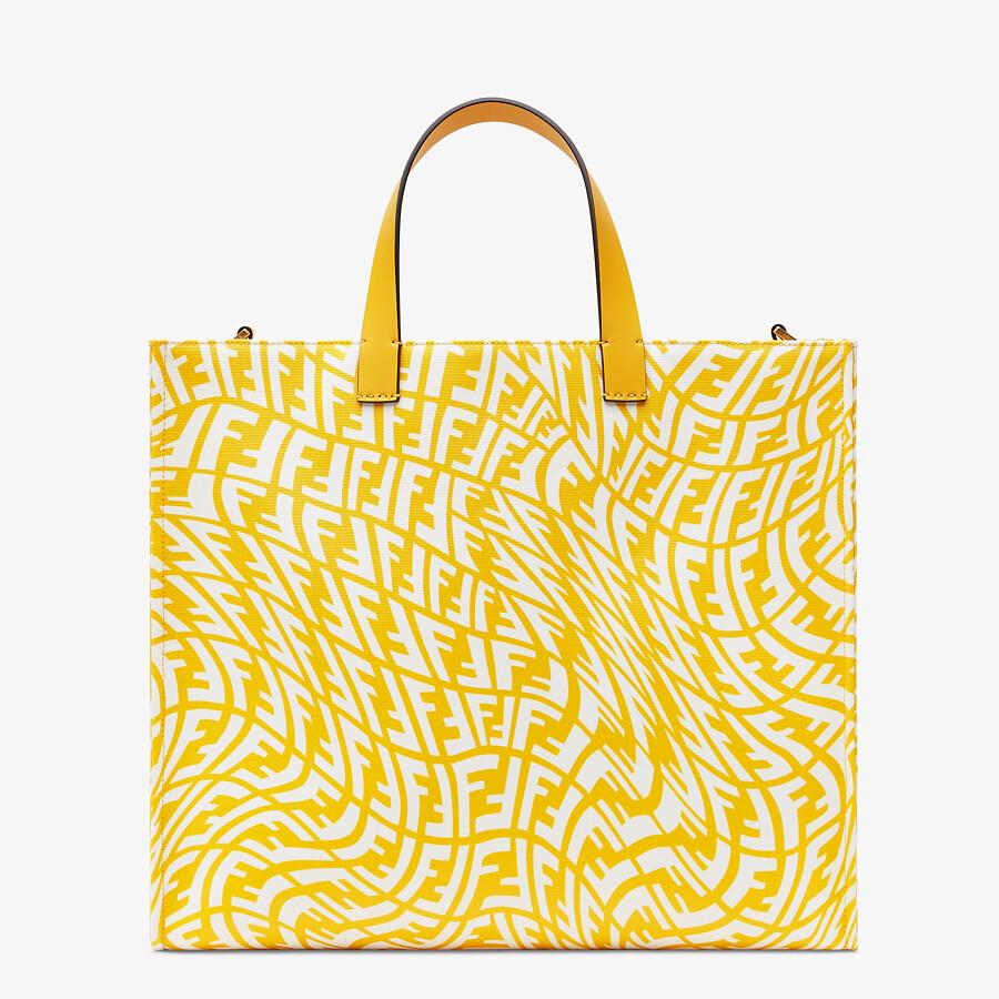 FENDI SHOPPER - Yellow glazed canvas bag - view 1 detail