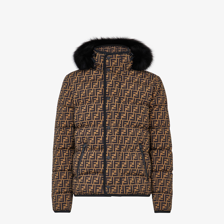 FENDI DOWN JACKET - Multicolor nylon down jacket - view 1 detail