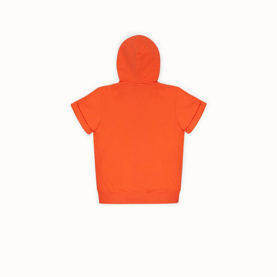 FENDI SWEATSHIRT - Orange cotton sweatshirt - view 2 detail