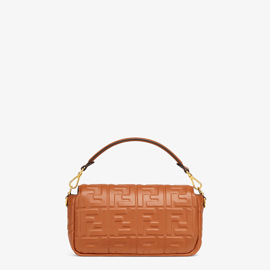 FENDI BAGUETTE - Brown nappa leather bag - view 4 detail