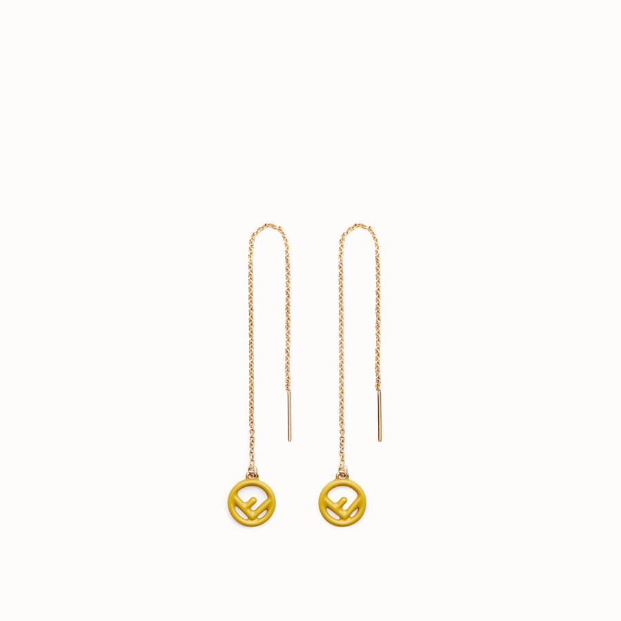 99eb4b65d950 Gold and yellow coloured earrings - F IS FENDI EARRINGS