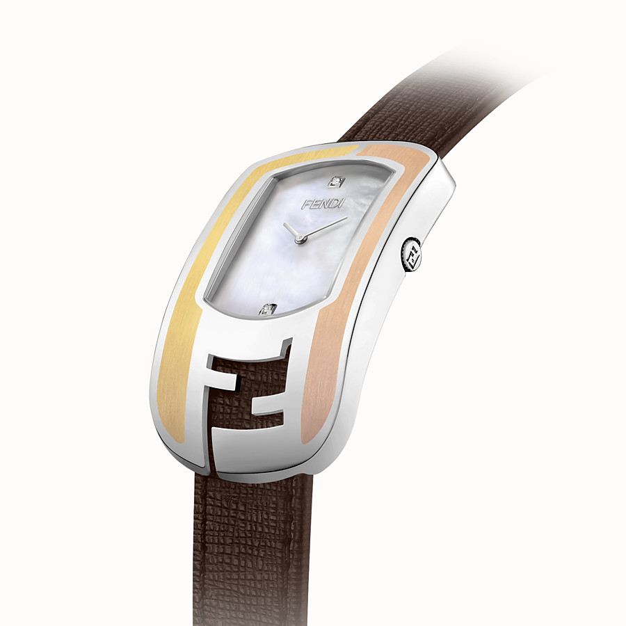 FENDI CHAMELEON - Curved case watch with metal inserts - view 2 detail
