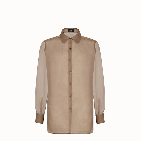 FENDI SHIRT - Brown organza shirt - view 1 small thumbnail