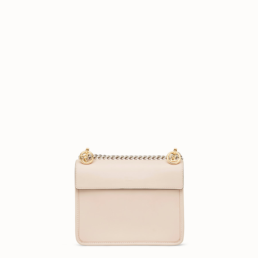 FENDI KAN I LOGO SMALL - Pink leather minibag - view 3 detail