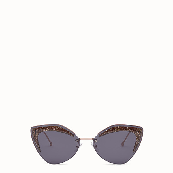 FENDI FENDI GLASS - Copper-coloured sunglasses - view 1 small thumbnail