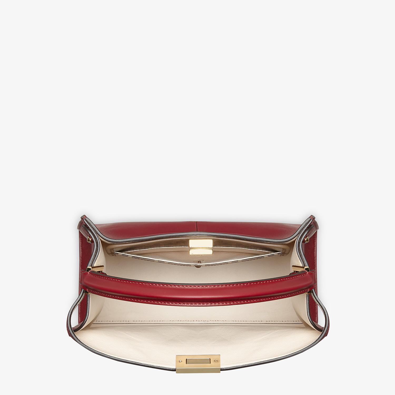 FENDI MEDIUM PEEKABOO X-LITE - Burgundy leather bag - view 6 detail