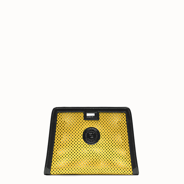 FENDI SMALL PEEKABOO DEFENDER - Yellow leather Peekaboo cover - view 1 small thumbnail