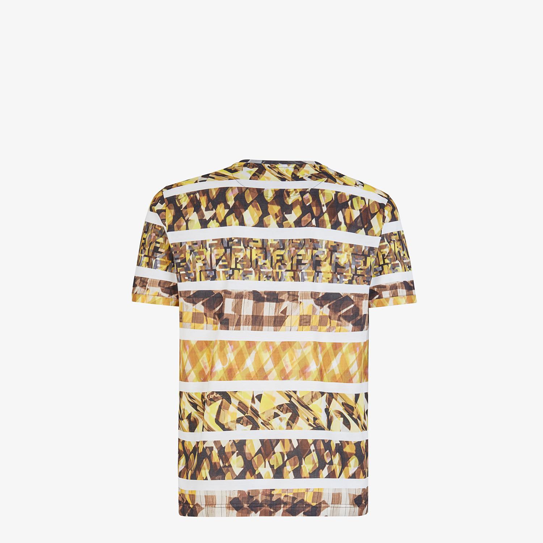 FENDI T-SHIRT - Multicolor cotton T-shirt - view 2 detail