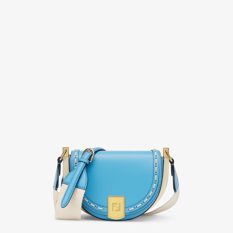 FENDI MOONLIGHT - Blue leather bag - view 1 detail
