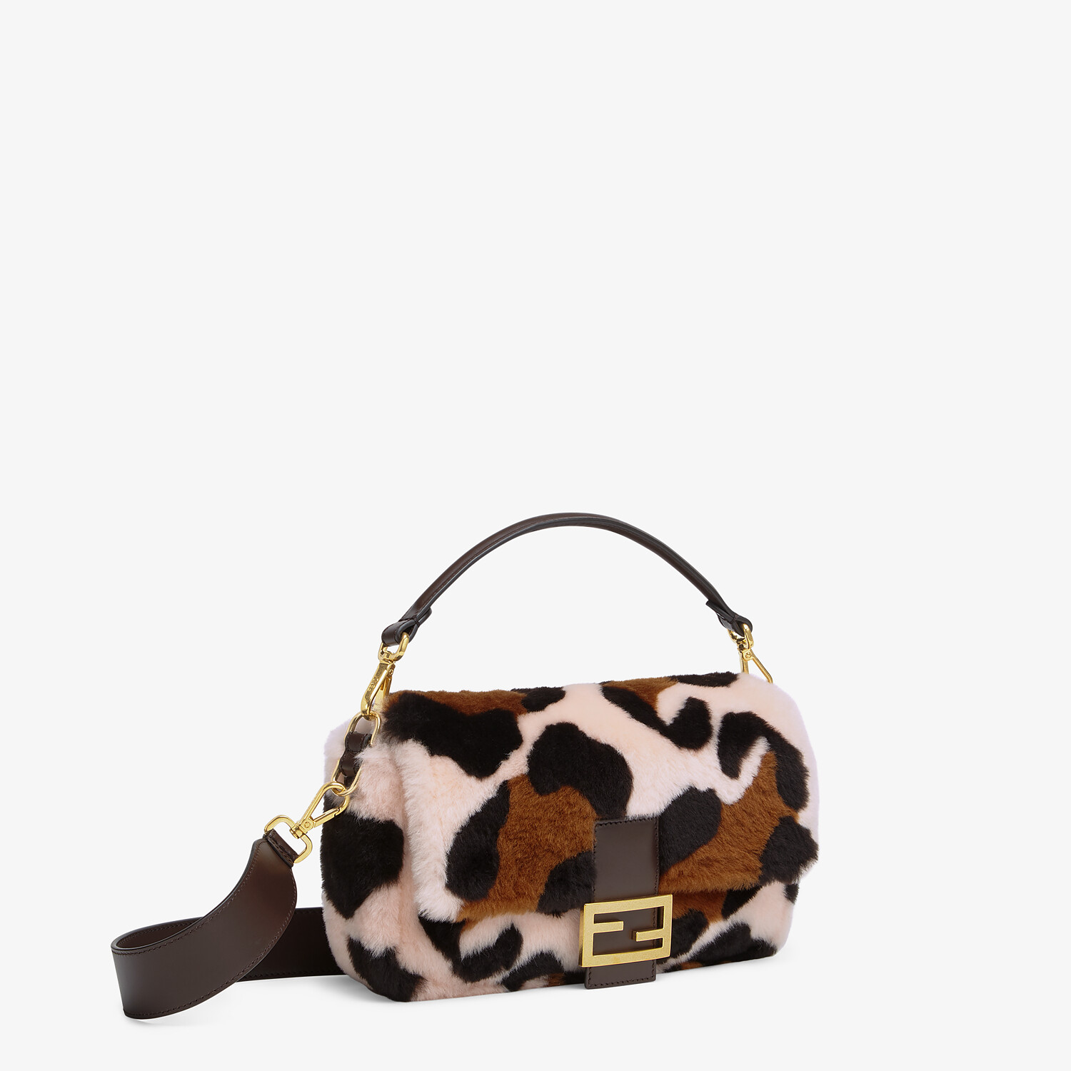 FENDI BAGUETTE - Pink sheepskin bag - view 2 detail