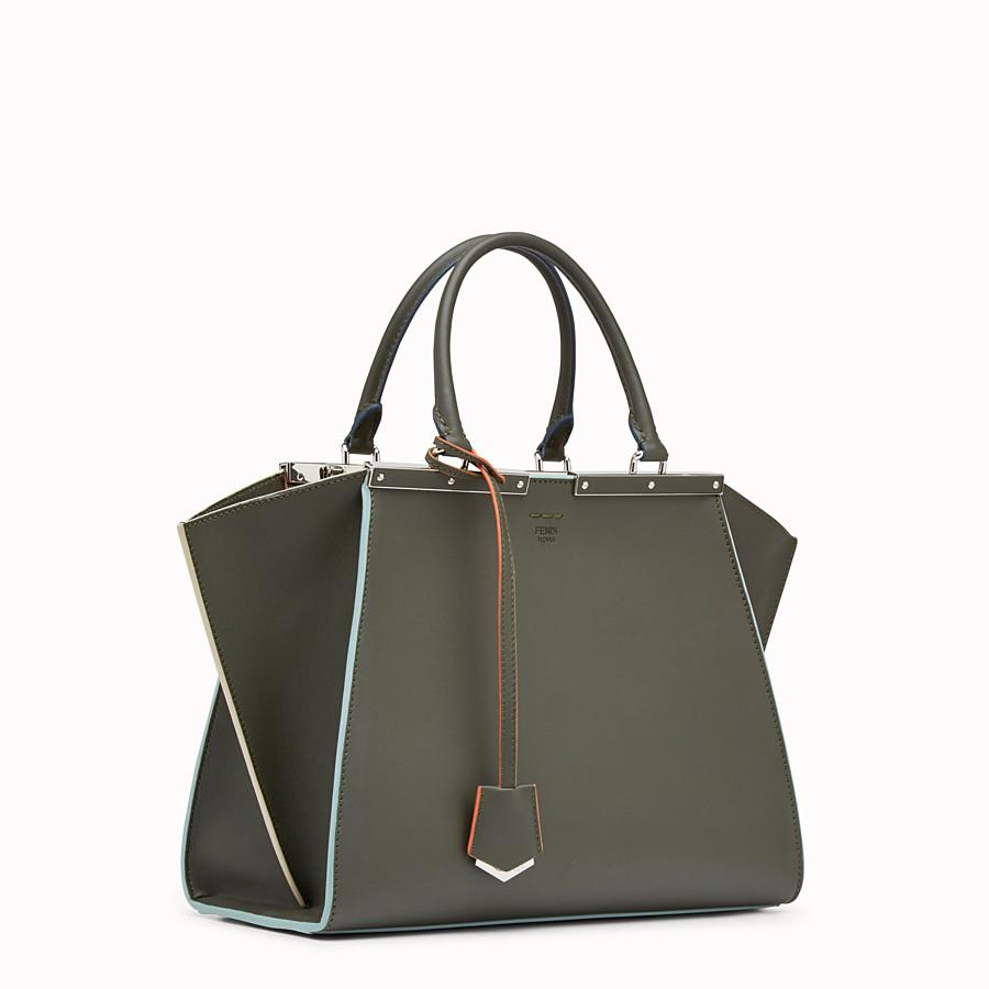 FENDI 3JOURS - Green leather shopper bag - view 2 detail