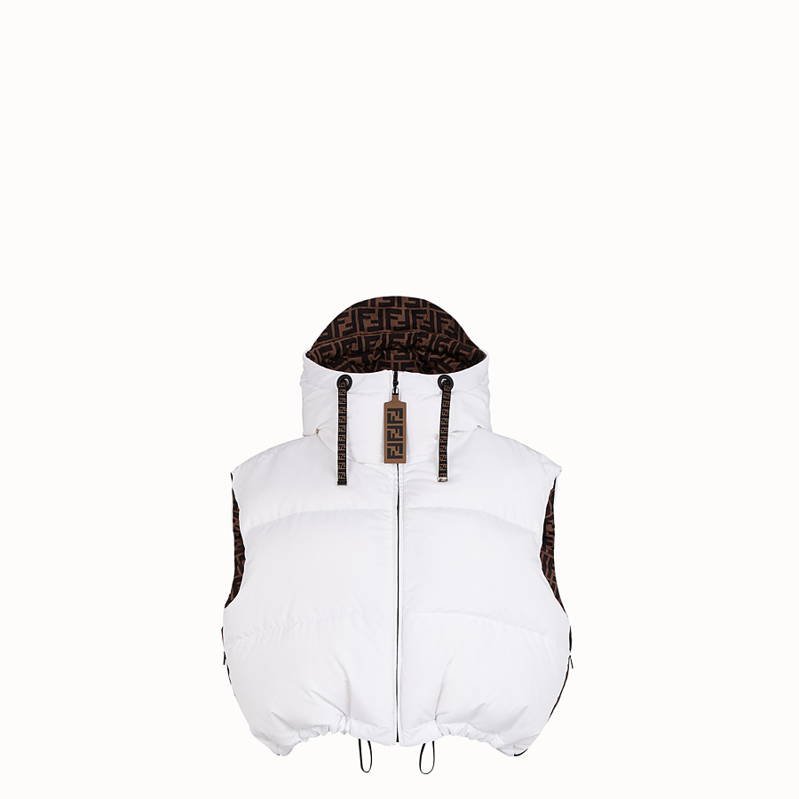 FENDI GILET - White tech fabric gilet - view 1 detail