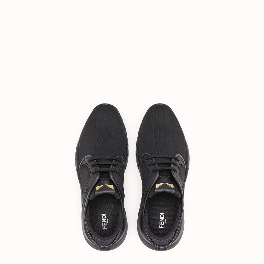 FENDI SNEAKERS - Sneakers en tissu technique noir - view 4 detail