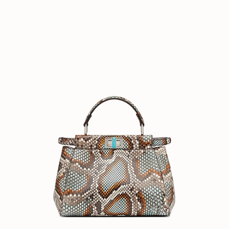 FENDI PEEKABOO MINI - Multicolour python handbag - view 3 detail