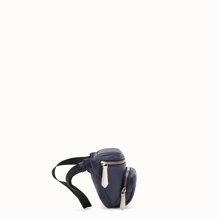 FENDI BELT BAG - Blue leather belt bag - view 2 detail