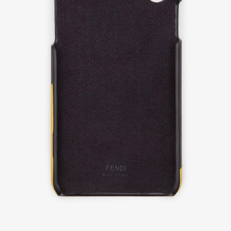 FENDI CUSTODIA iPHONE X - Cover nera - vista 2 dettaglio