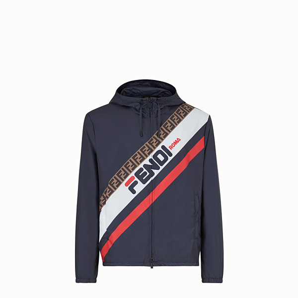 FENDI WINDBREAKER - Blue nylon windbreaker - view 1 small thumbnail