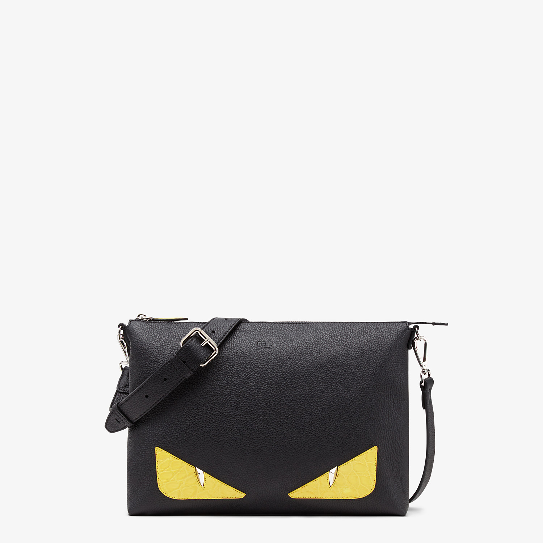 FENDI MESSENGER - Black leather bag - view 1 detail