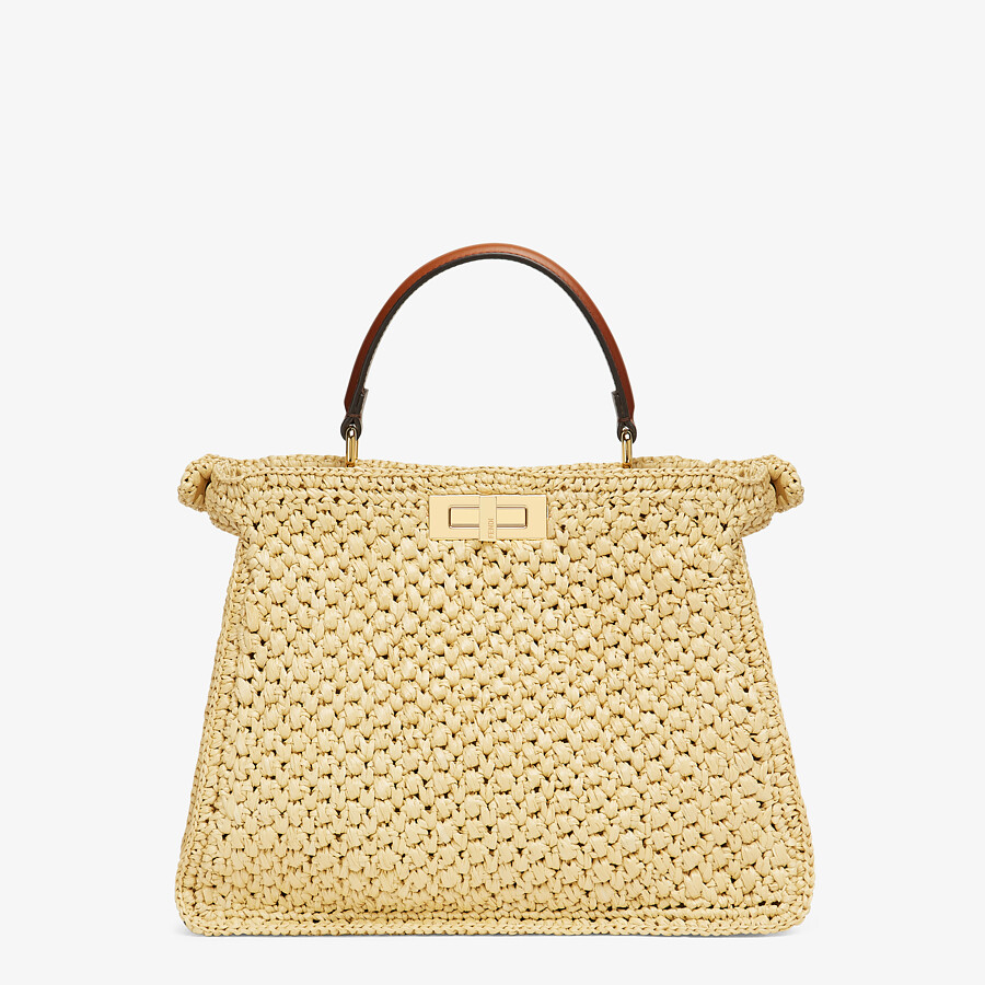FENDI PEEKABOO ISEEU MEDIUM - Woven straw bag - view 6 detail