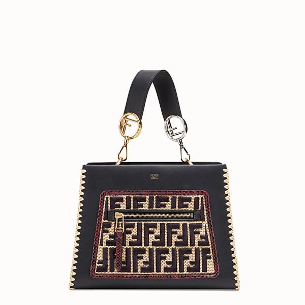 FENDI RUNAWAY SMALL - Exotic multicolor leather raffia bag - view 1 small thumbnail