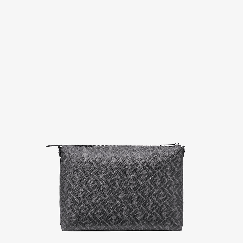 FENDI MESSENGER - Grey fabric bag - view 3 detail