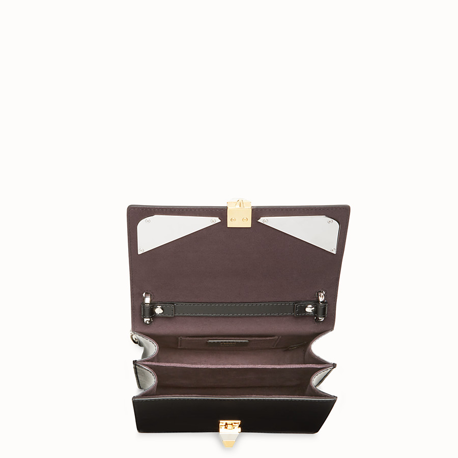 FENDI KAN I SMALL - Bag Bugs black leather mini bag - view 4 detail