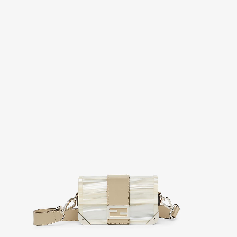 FENDI BAGUETTE TRUNK MINI - Mother of pearl plexiglass bag - view 1 detail