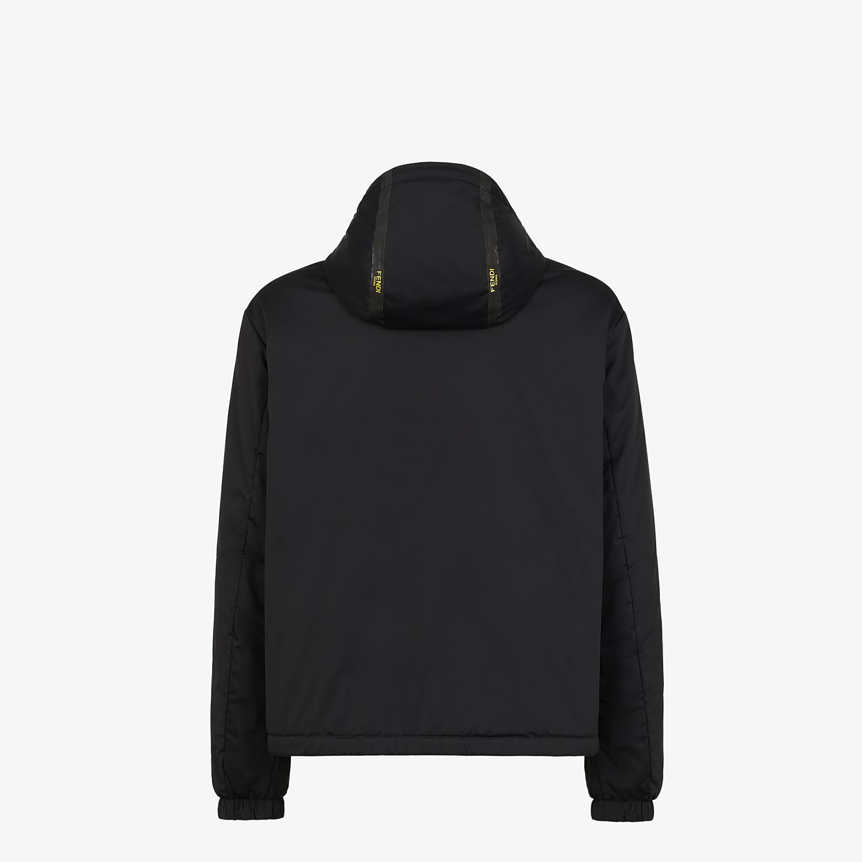 FENDI WINDBREAKER - Black tech fabric jacket - view 2 detail