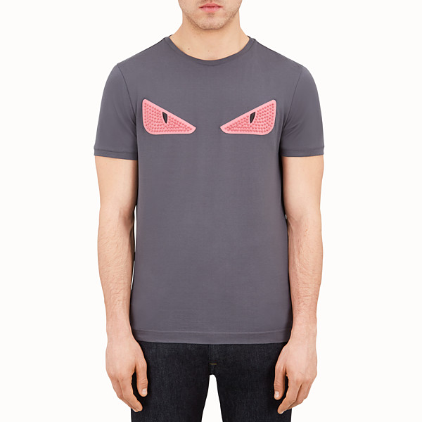 FENDI T-SHIRT - Grey jersey T-shirt - view 1 small thumbnail