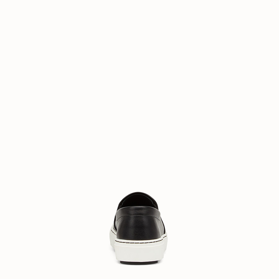FENDI SNEAKER - Slip on in black calfskin - view 3 detail
