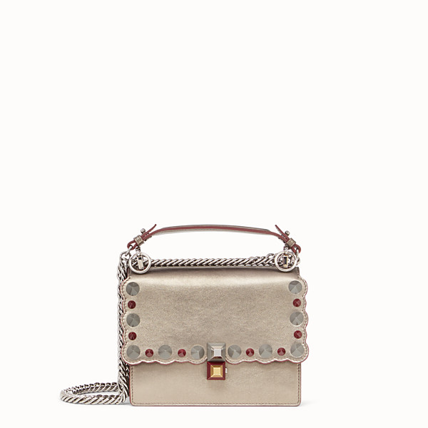 FENDI PETIT KAN I - Mini-sac en cuir couleur bronze - view 1 small thumbnail