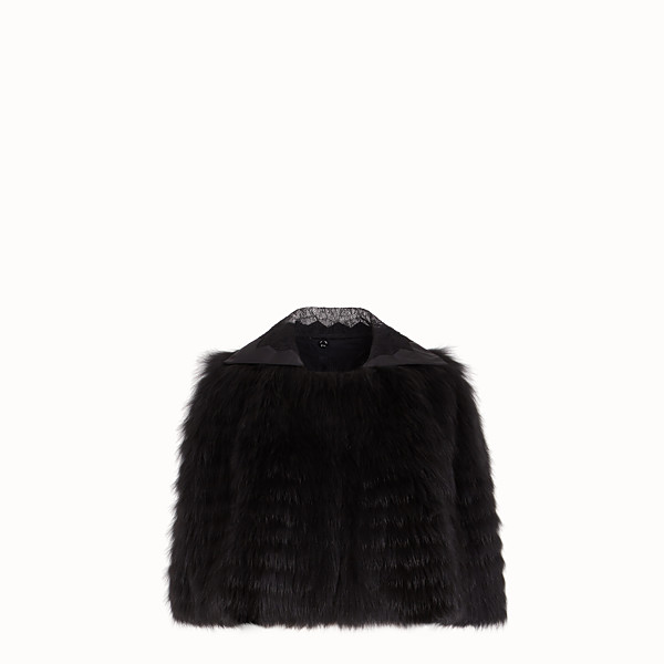 FENDI CAPE - Black fox fur cape - view 1 small thumbnail
