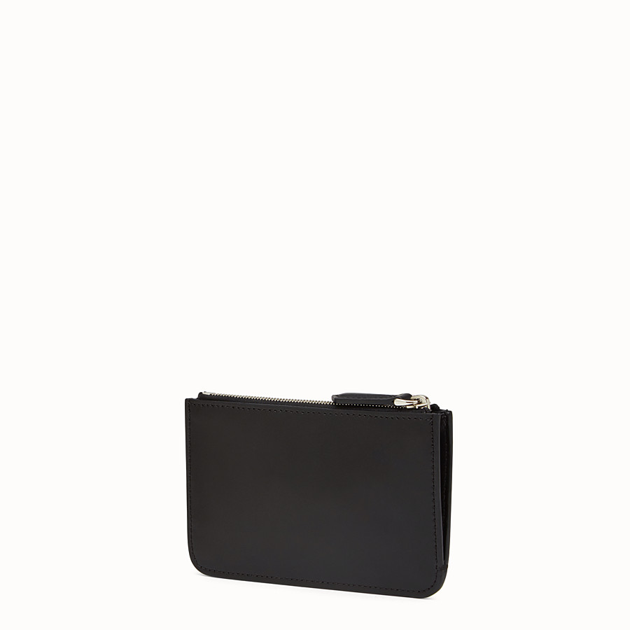 FENDI KEY RING POUCH - Black leather keyring - view 2 detail