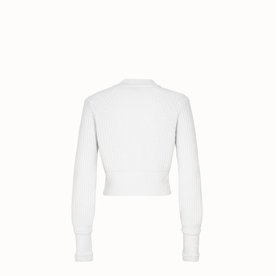 FENDI PULLOVER - White cashmere jumper - view 2 detail