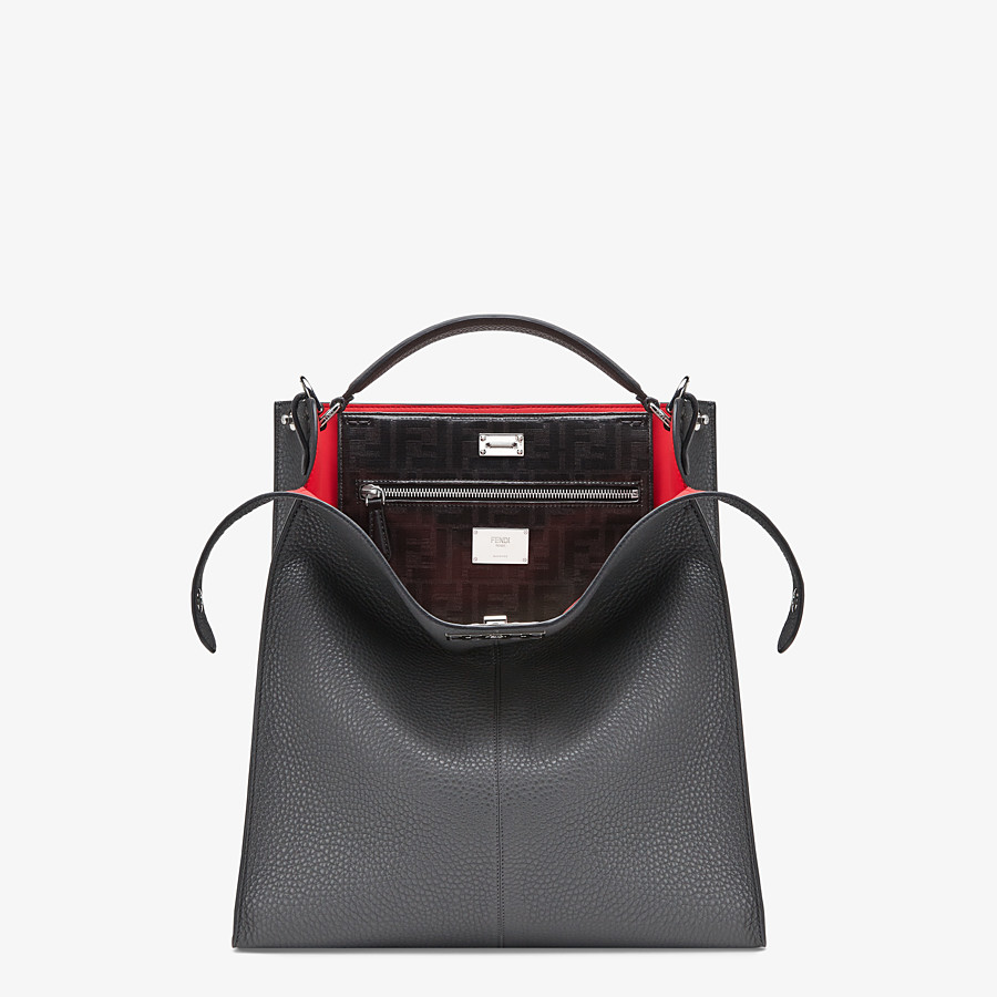 FENDI PEEKABOO X-LITE FIT - Grey leather bag - view 1 detail
