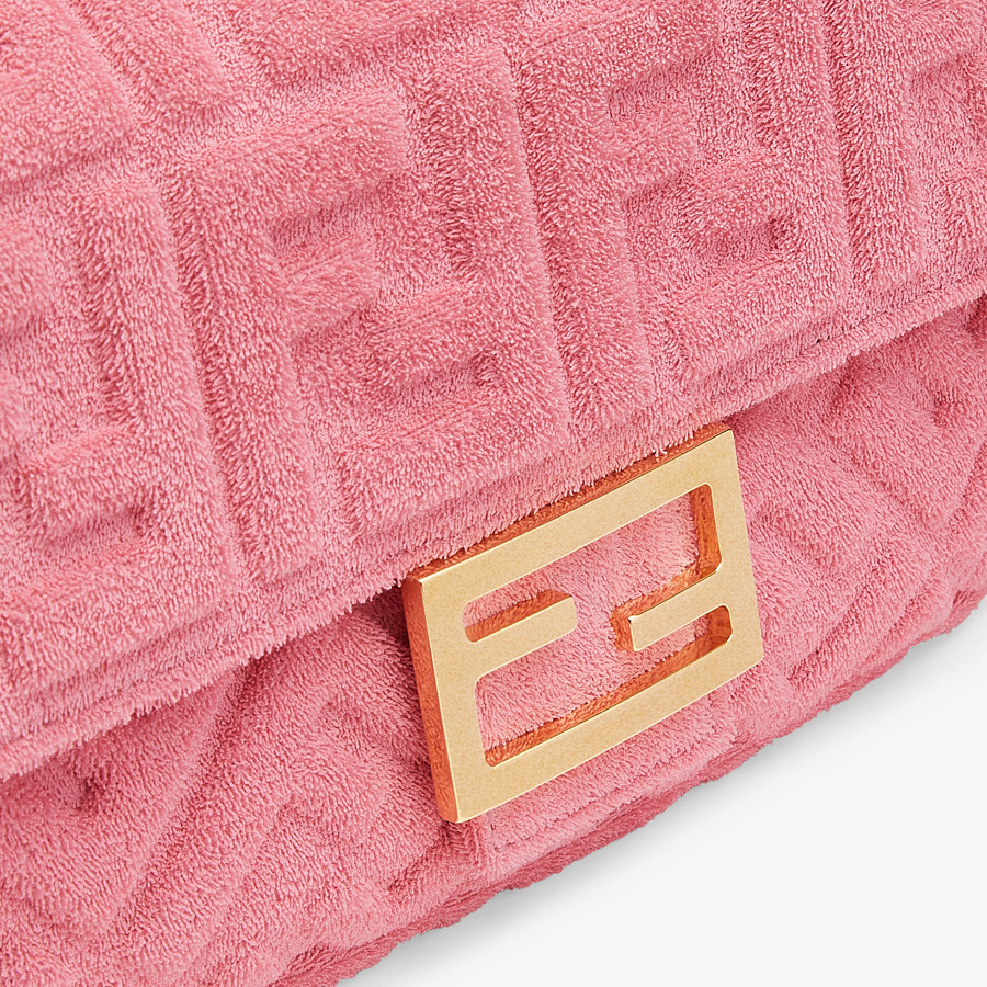 FENDI BAGUETTE - Pink terrycloth bag - view 6 detail