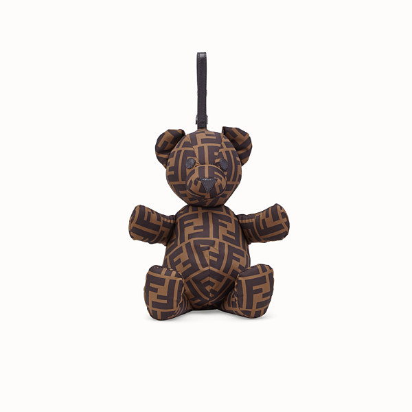 FENDI SHOPPER WITH FF LOGO AND TEDDY BEAR - Nylon shopper with teddy bear - view 1 small thumbnail