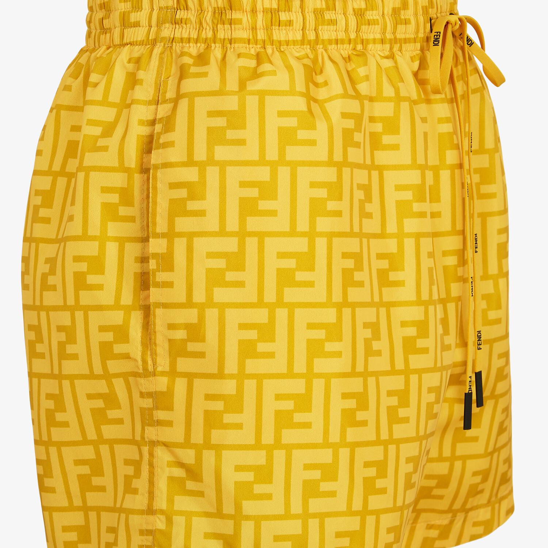 FENDI SWIM SHORTS - Yellow Lycra® shorts - view 3 detail