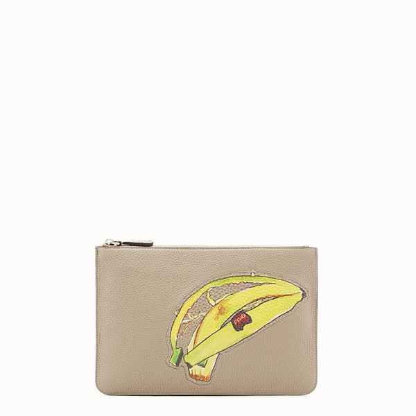 FENDI POUCH - Beige leather pouch - view 1 small thumbnail