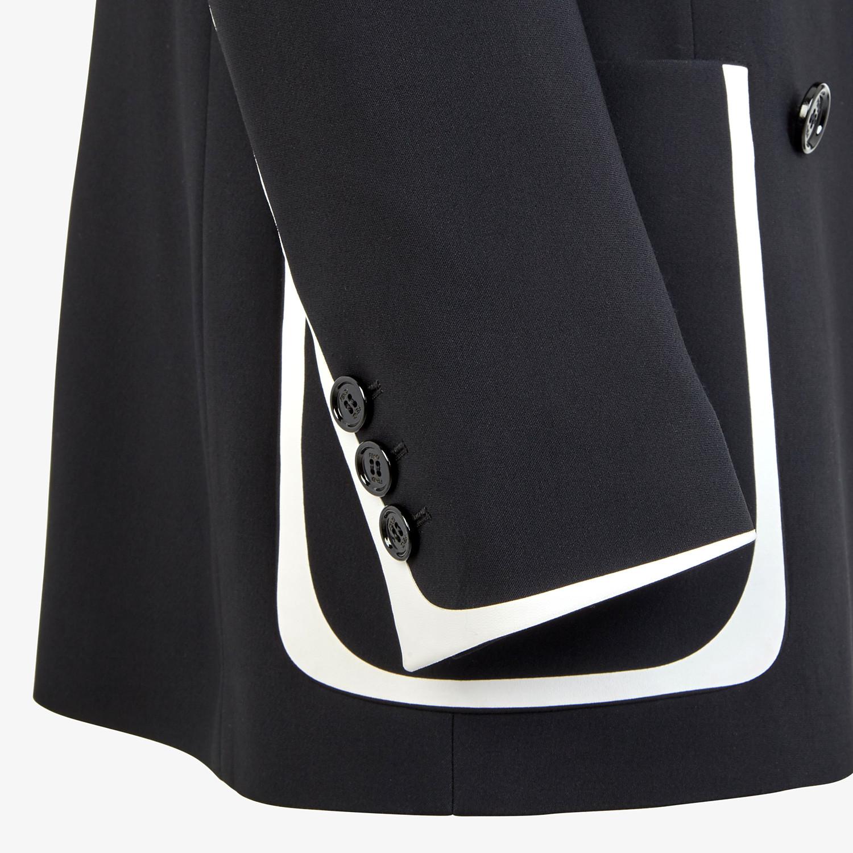 FENDI JACKET - Black cady jacket - view 3 detail