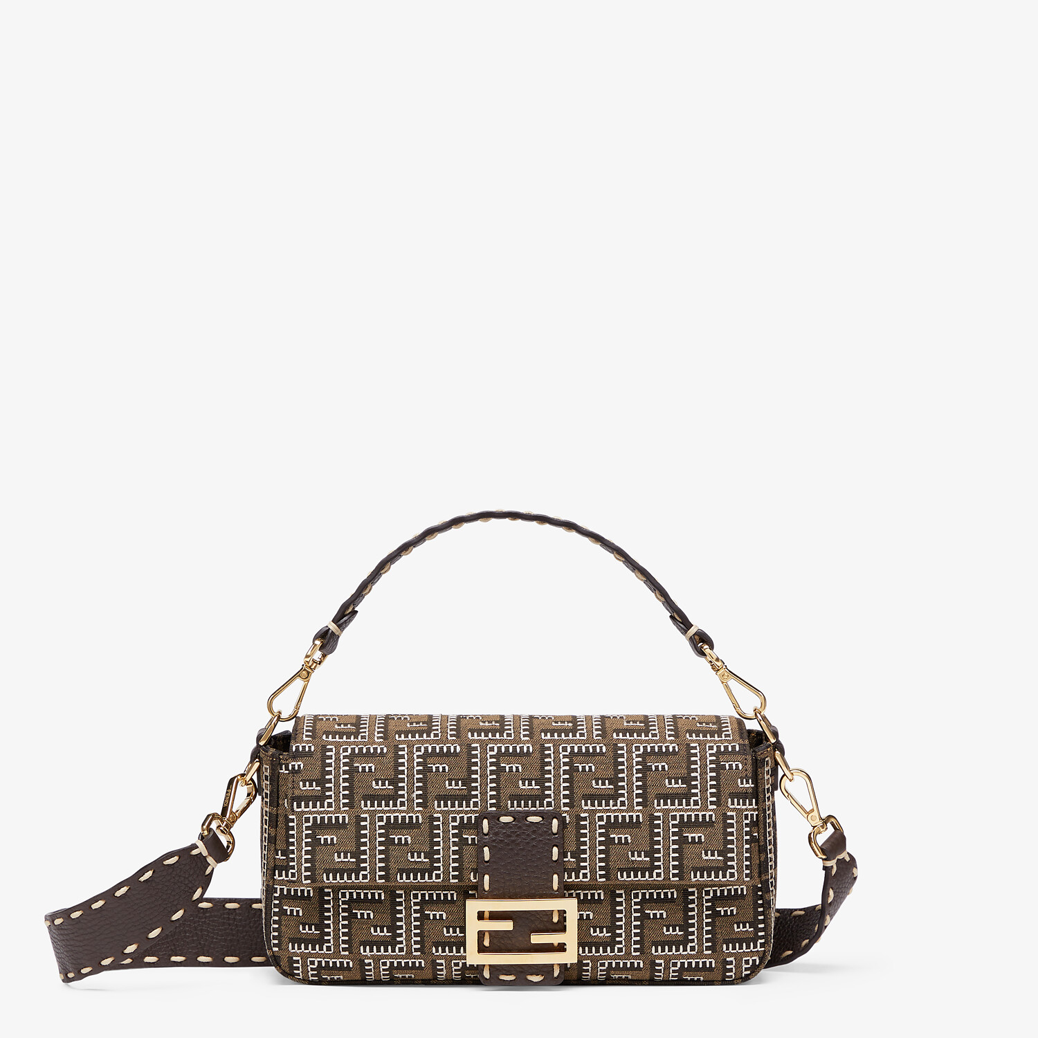 FENDI BAGUETTE - Embroidered FF fabric bag - view 1 detail
