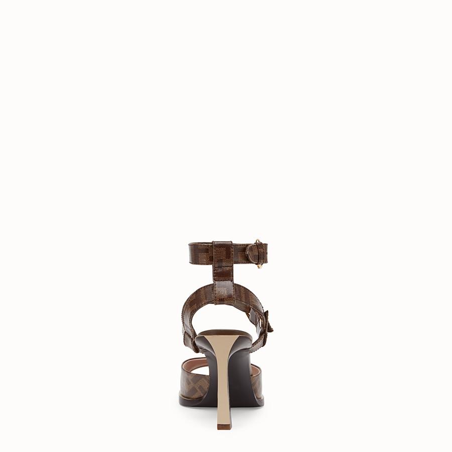 FENDI SANDALI - Sandalo in tessuto marrone - vista 3 dettaglio