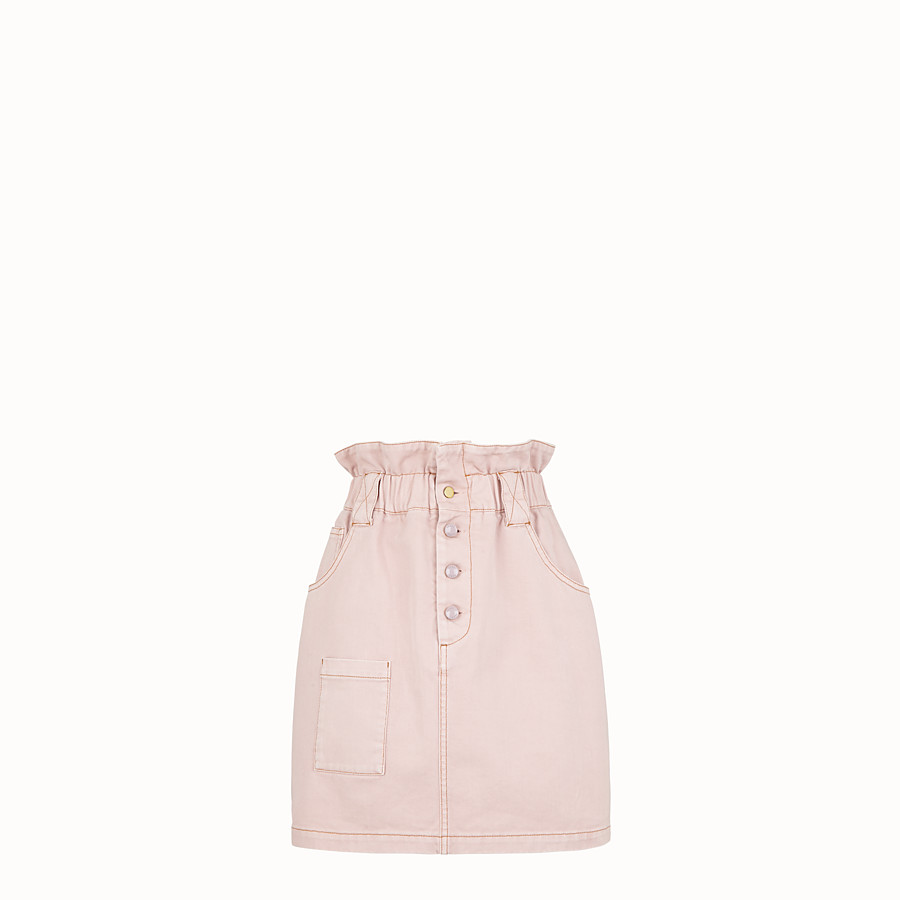 FENDI GONNA - Gonna in denim rosa - vista 1 dettaglio