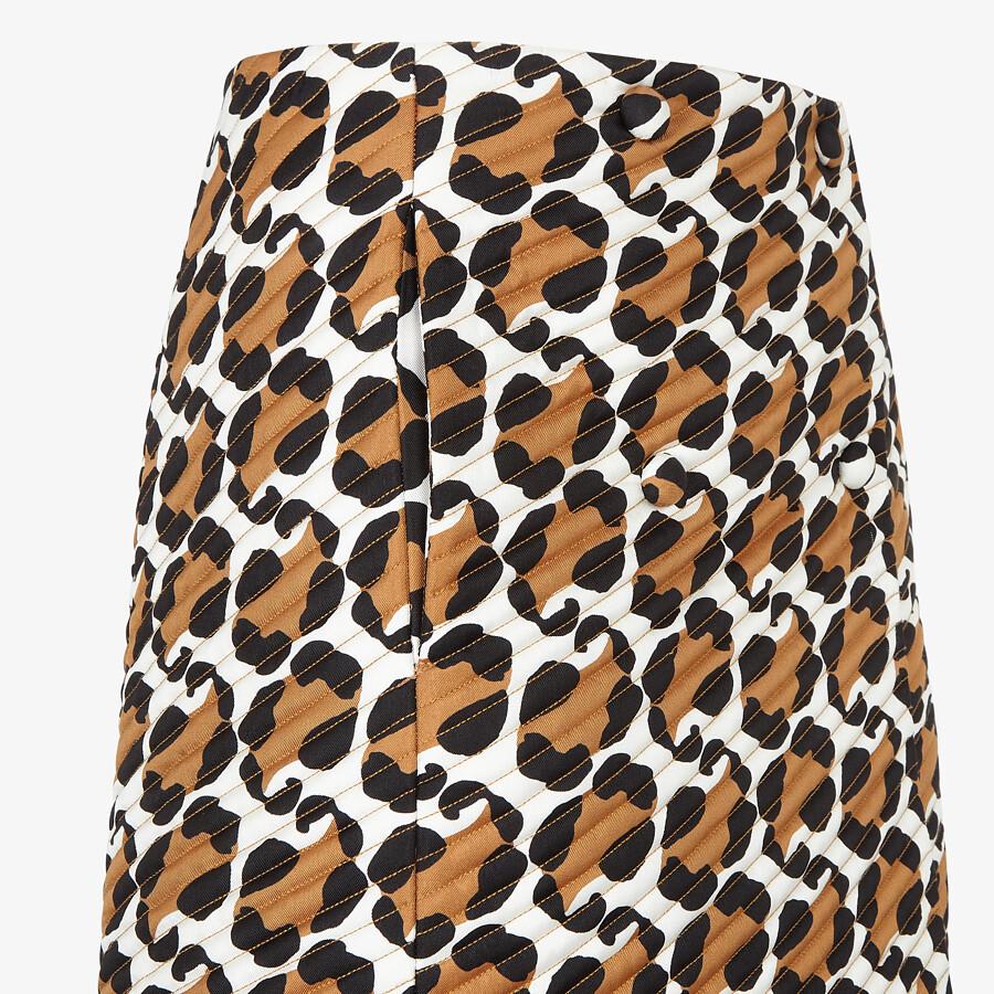 FENDI SKIRT - Multicolor twill skirt - view 3 detail