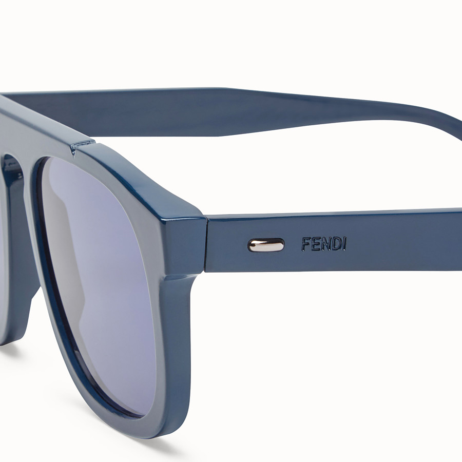 FENDI FENDI ANGLE - Blue sunglasses - view 3 detail