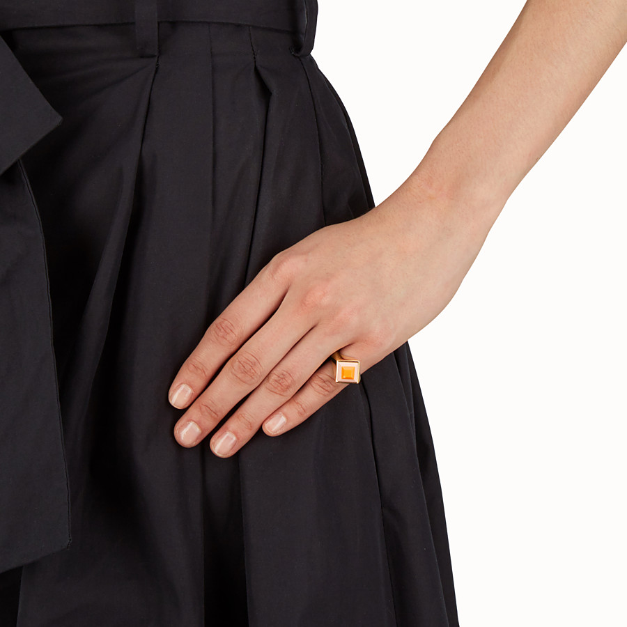 FENDI RAINBOW RING - Metal and stone Rainbow ring - view 2 detail