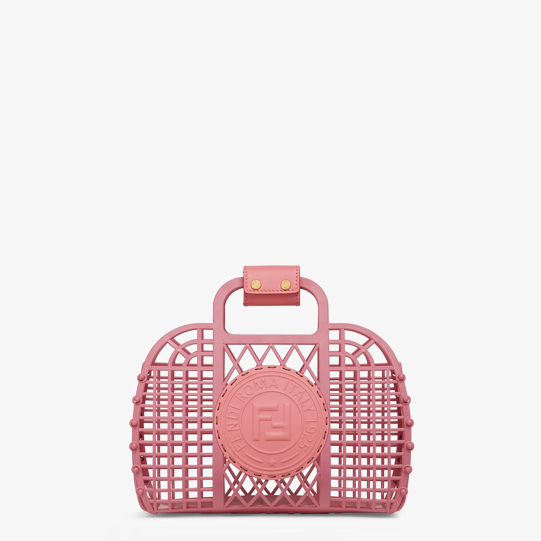 FENDI FENDI BASKET SMALL - Pink recycled plastic mini-bag - view 1 detail