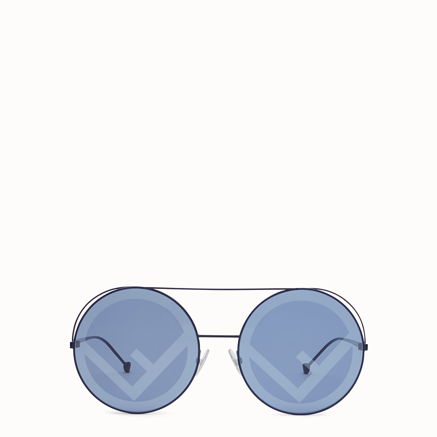 FENDI RUN AWAY - Blue AW17 Runway sunglasses. - view 1 detail