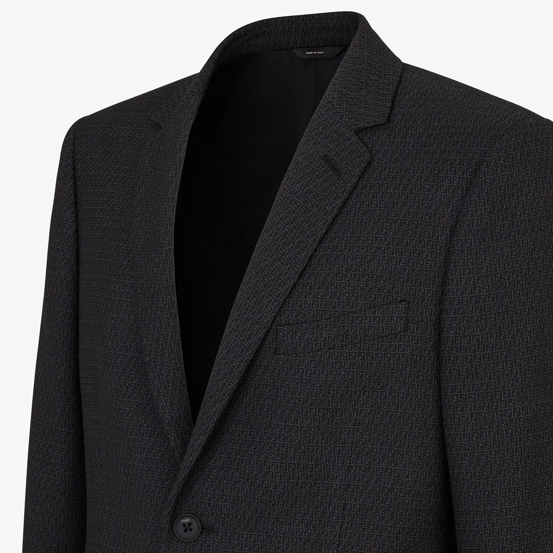 FENDI JACKET - Blue wool blazer - view 4 detail