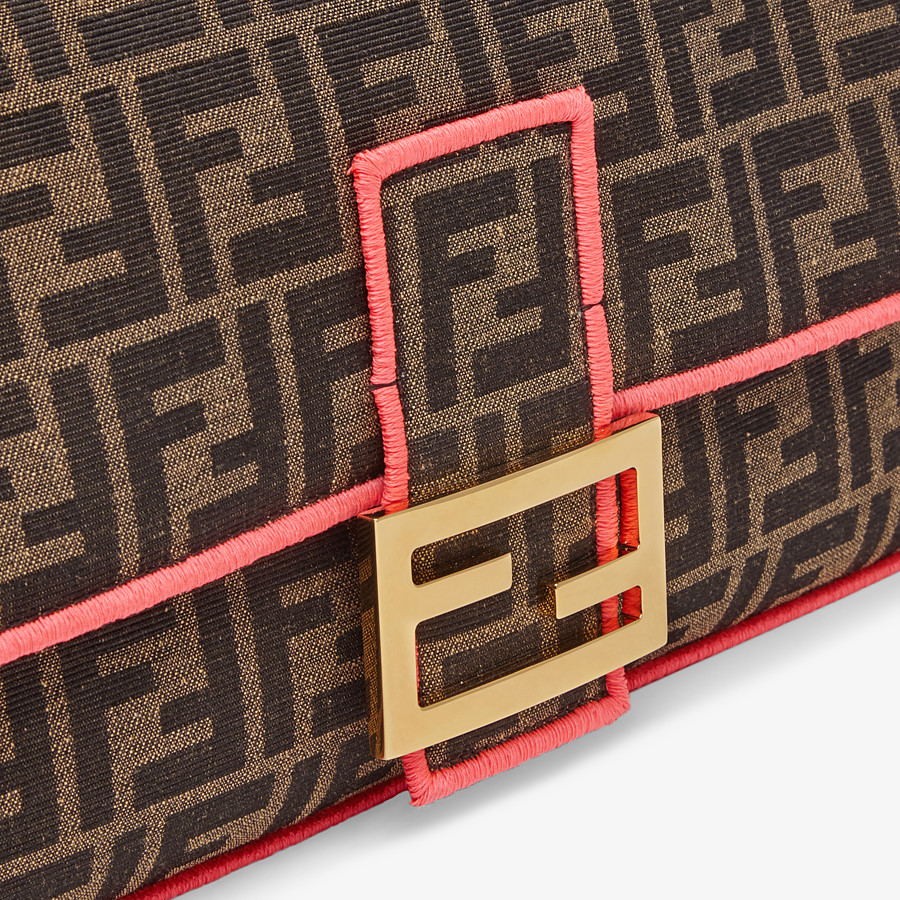 FENDI BAGUETTE LARGE - Fendi Roma/Amor fabric bag - view 5 detail